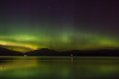 075. Aurora, over loch Lomond and Ben Lomond