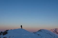 635.  Watching the sun set on Stob na Broige,  Glen Coe