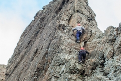665. Kevin and Peter on the Inaccessible Pinnacle, Skye