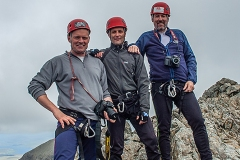673. Kevin, Peter and Rab after climbing the Inaccessible Pinnacle, Skye