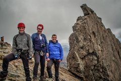 674. Kevin, Stuart and Rab after climbing the Inaccessible Pinnacle, Skye