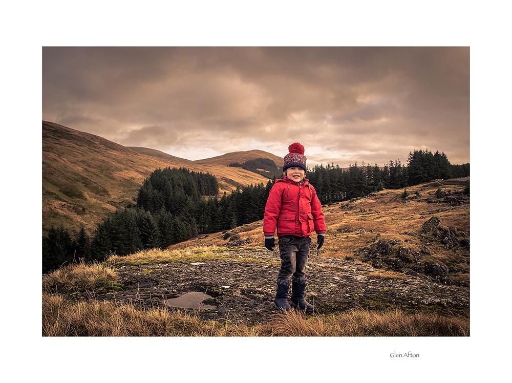 497. Finlay walking in Glen Afton