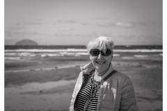 609.  Turnberry Beach with my mum