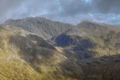260. The peaks of Bidean Nam Bian and Sgor na h-Ulaidh from Beinn Fhionnlaidh