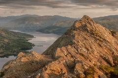 Ben A'an summit and Loch Katrine